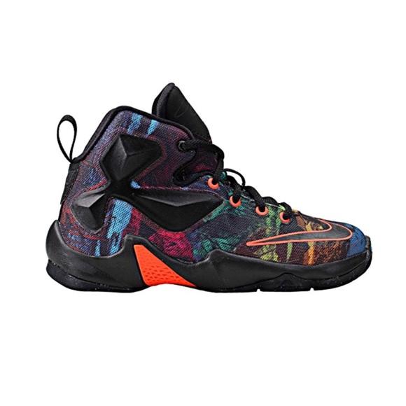 premium selection 99eb0 b3e59 Kids Lebron 13 Akronite Philosophy Shoe Sz 2